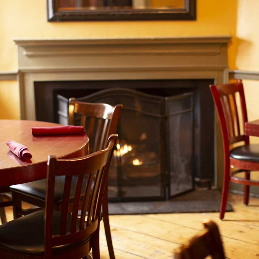 fireplace at the Historic Stage House Inn - Scotch Plains, NJ