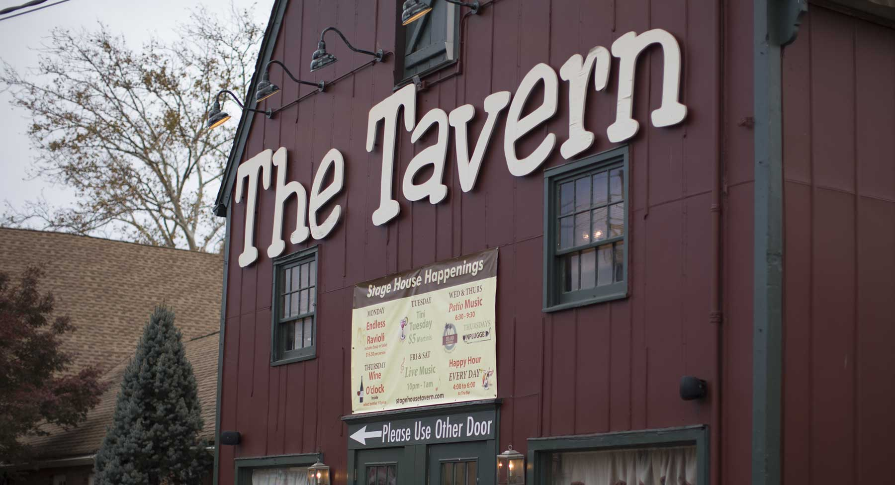 exterior shot of The Tavern