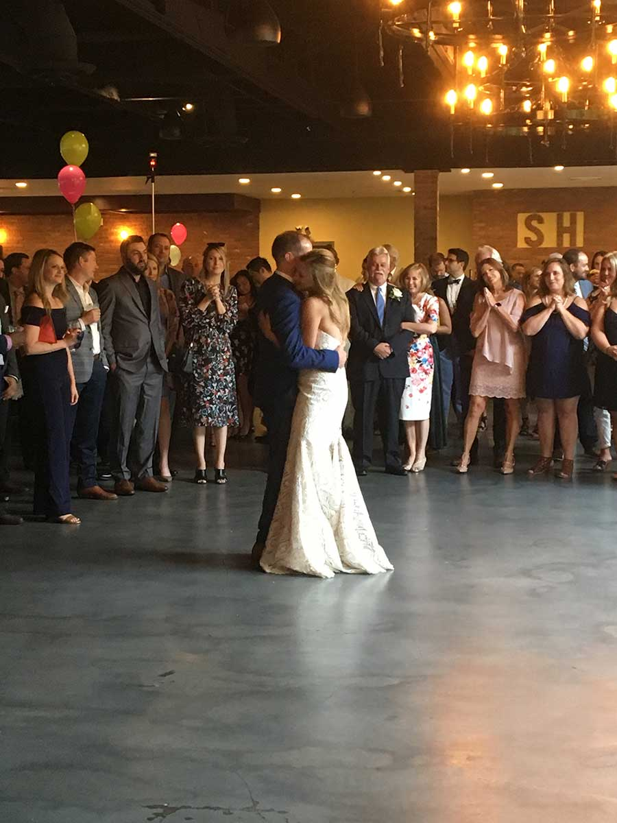 First wedding dance at the Stage House Tavern in Mountainside, NJ